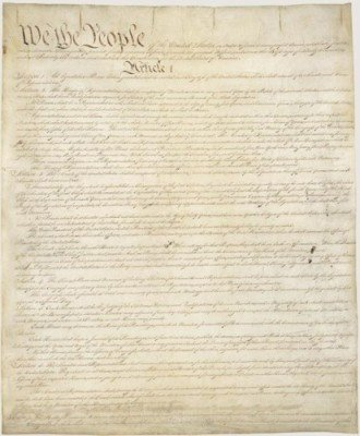 The Constitution of the United States. Courtesy of the Library of Congress.