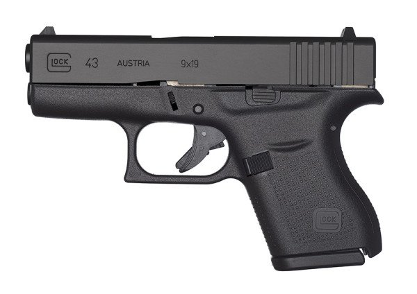 """At only 1.02"""" wide the Glock 43 offers conceal ability and the better ballistics of the 9mm."""