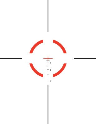 The 5.56mm and .308 caliber Segmented Circle reticle.