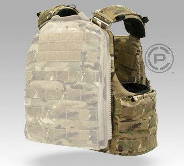 The rear plate bag on the Crye CAGE Plate Carrier.