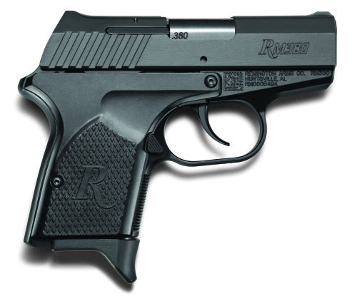 The RM380 has an extended beavertail grip, streamlined grip, and low-profile iron sights.