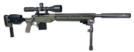 """The customized Bergara """"Heavy Tactical"""" sniper rifle selected by Altanta Police."""