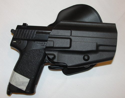 The GLS Pro-Fit with Sig Sauer. The SafariSeven nylon polymer is very sturdy and mark resistant.