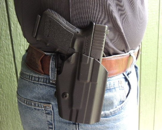 The GLS Pro-Fit with holstered Glock 23.