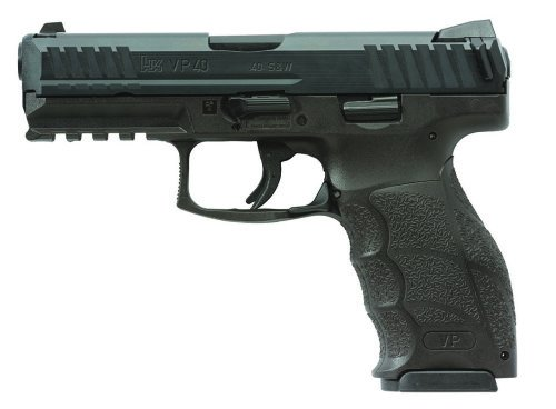 The HK VP40 has an ambidextrous slide lock lever at the top of the grip.