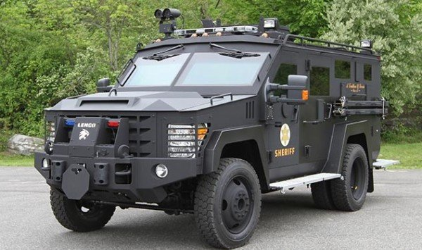 The use of armored vehicles, like this LENCO Bear Cat, increased after 9-11.