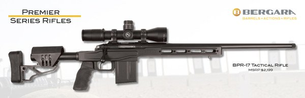 The Bergara BPR-17 Tactical rifle is in their Premier Production line.