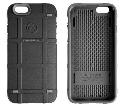 The Magpul iPhone 6 Bump Case has a hard exterior and a shock absorbent interior.