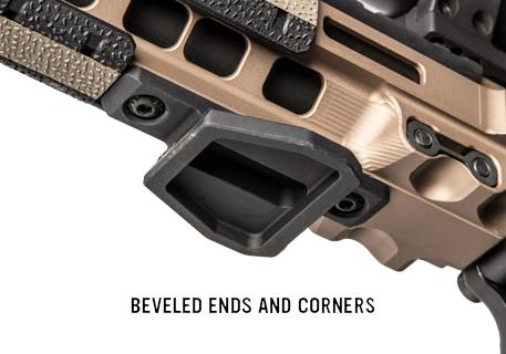 The M-LOK Tripod Adapter is compact and low profile to avoid snagging, but its receiver makes mounting easy.