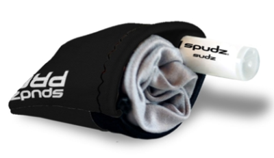 The Alpine Innovations Spudz Pro with Spudz Sudz Cleaning bottle.