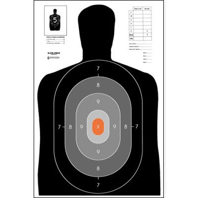 The B-27 training target has been widely used in law enforcement firearms training.
