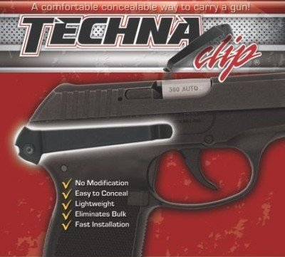 The Techna Clip attaches to the Ruger LCP and LC9 on the frame.