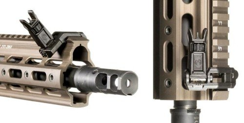 The new Enhanced Front Sight Post can also be used on the MBUS Pro offset sights.