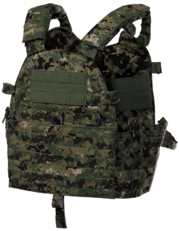 The Modular Rifle Plate Carrier offers increased ballistic protection with appropriate rifle plates, without being too cumbersome for traditional patrol officer uniforms.