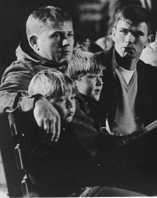 Milner and his boys, with McCord at a USC game. (photo from kentmccord.com)