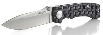 The Ruger Go-N-Heavy with spear-point blade and textured hard-anodized handles.
