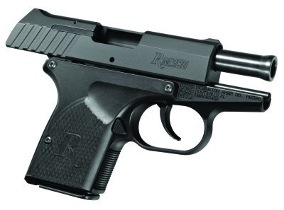 The RM380 has customizable grips to accommodate each shooter's grip.