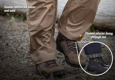 Made from Teflon-coated, rip-stop material, the 5.11 Flannel Pants are designed to beat the harsh weather.