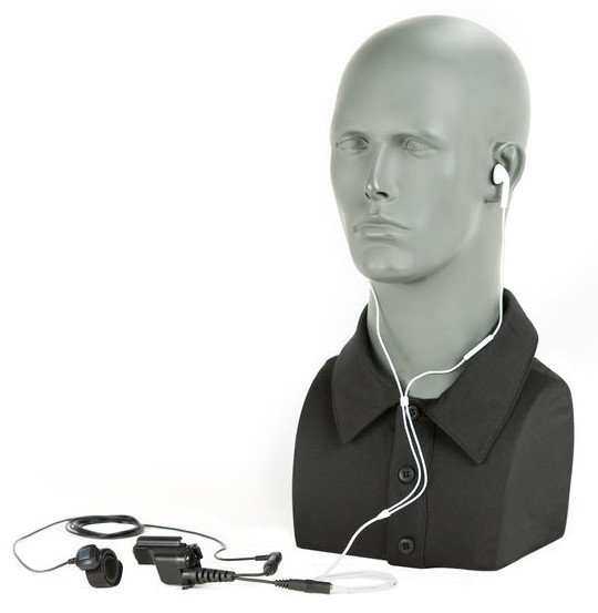 The TCI Undercover Kit looks like using a pair of ear buds.