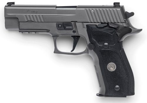 The Sig Sauer P226 SAO is the largest handgun in the series.
