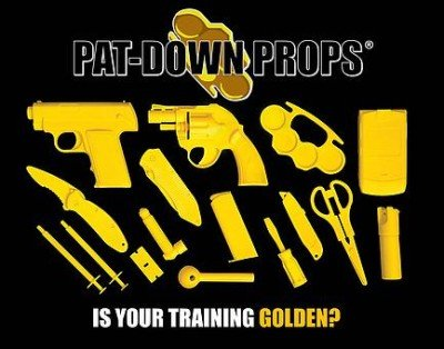 The contents of the Single Pack Pat-Down Props (photo by Boydd Products).