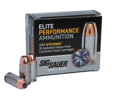 The SIG Sauer Sierra V-Crown bullets will come in 100-round boxes.