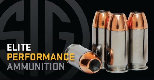 The new SIG Sauer Elite Performance with Sierra V-Crown bullets.