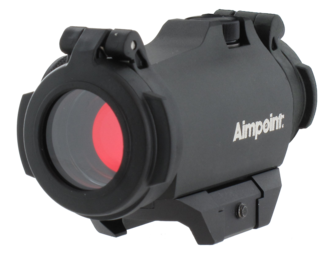 The Aimpoint H-2 with closed lens covers.