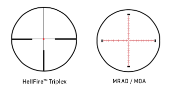 Two of the Tango 6 reticles.