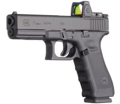 The Glock 17 MOS with Trijicon optic.