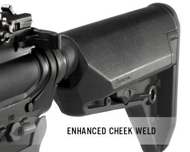 The enhanced cheek weld cannot be understated. Providing a solid, but more natural fit for the shooter's cheek can improve overall shooting comfort and accuracy.