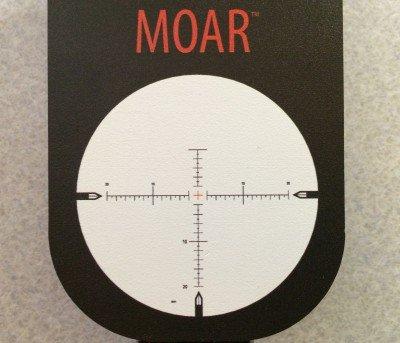 The Nightforce MOAR reticle.