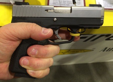 """The Gen 2 Kahr P9 is slightly longer, but maintains a width of only 0.90""""."""