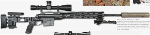 The Remington M2010 Sniper Weapon System using the RACS chassis (photo by Remington).