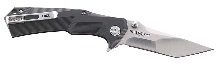 Side View of the CRKT Tighe Tac Two Tanto Knife