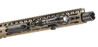 The Streamlight Protac Rail Mount Lights are easily installed (here with the pressure switch option).