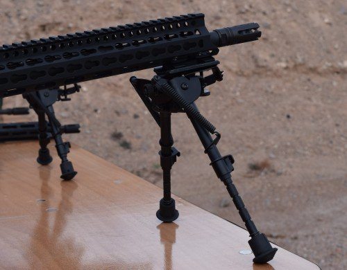 The DD5V1 at SHOT had a Harris style bipod. Note the muzzle device.