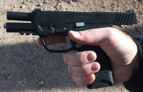 The Avidity Arms PD10 felt very good in our hands.