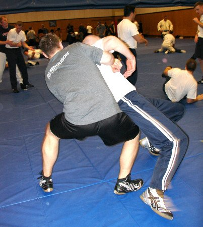 The physicality required for officers to survive on the streets is the very training that PERF wants to minimize (photo by leelofland.com).