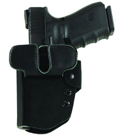 "The dual Velcro belt attachments create a ""tunnel"" to secure the BlakGuard to the user's belt."