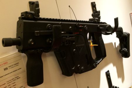 The KRISS Vector Gen II 9mm SMG has select fire capabilities.