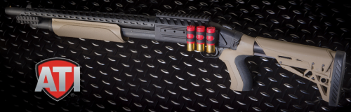 The Mossberg 500 ATI Scorpion is a perfect law enforcement set-up.