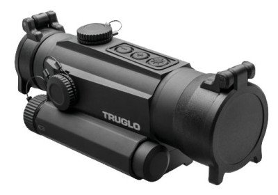 The TRUGLO TRU-TEC 30mm optic has digital pushbutton lighting controls.