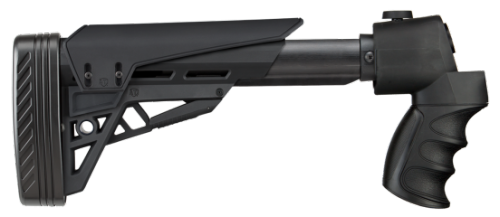 The ATI T2 TactLite adjustable stock comes with a cheek riser, and Akita Scorpion recoil pad.