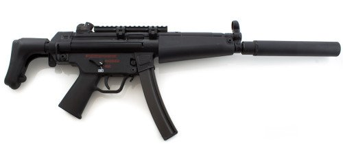 """The HK MP-5 with """"Navy"""" trigger group (photo by hkparts.net)."""