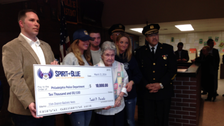 $10,000 to the Philadelphia Police for body armor.