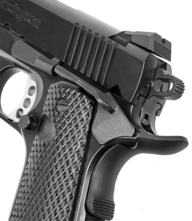 Extended beavertail, custom hammer, Novak-styel rear sight are just a few features of the 1911 R1 Enhanced Commander.