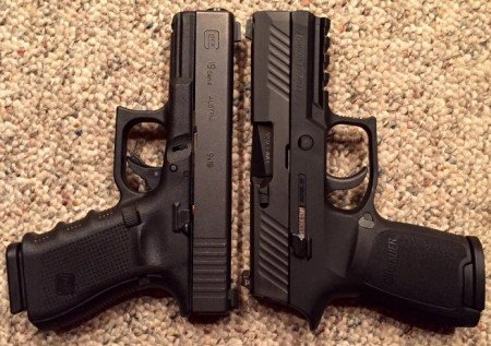 The Sig Sauer P320 Compact is still larger and heavier than the Glock compact pistols.