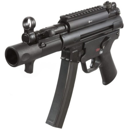 The SP5K has the classic HK MP-5 slap-forward charging handle though with shorter travel distance