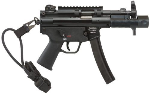 The SP5K comes with a top Picatinny rail, unique muzzle device and foregrip, molded handguard, diopter sights and a bungee sling.